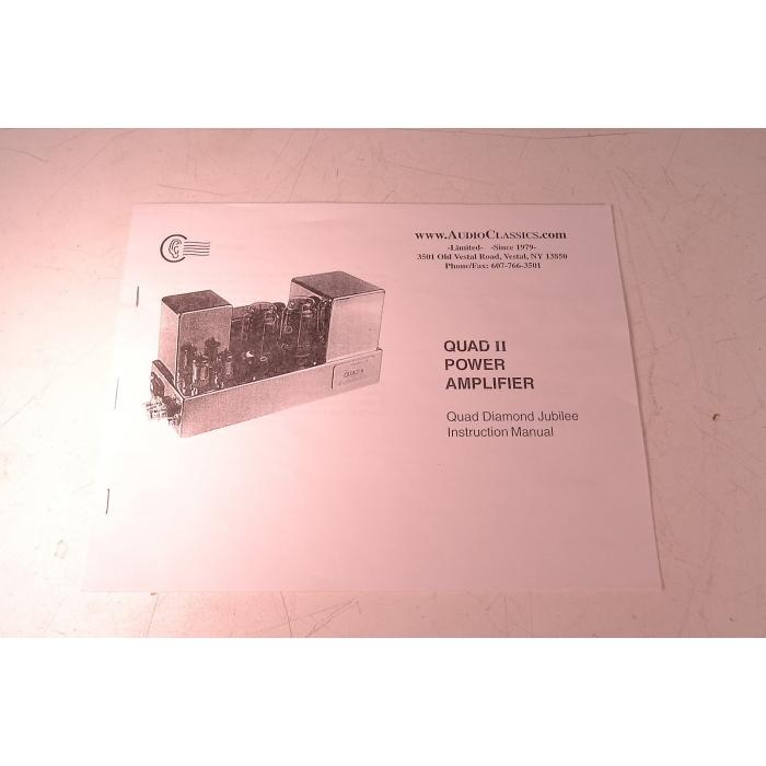Quad II Diamond Jubilee KT66 Driven Mono Amplifiers