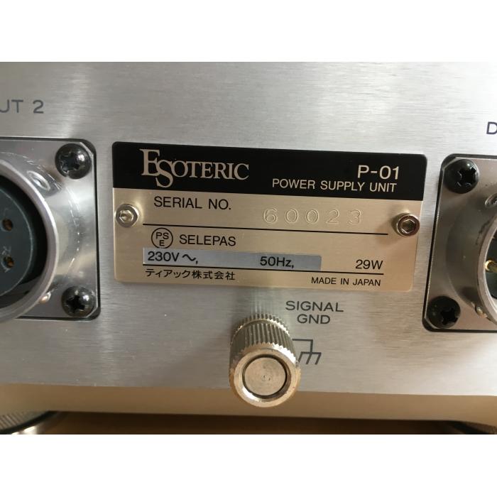 Esoteric P-01, D-01, D-01